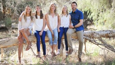 Laeticia Brouwer (left) with her family earlier this year.