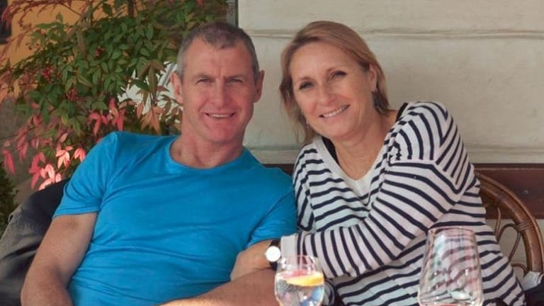 Phil Walsh and his wife Meredith.