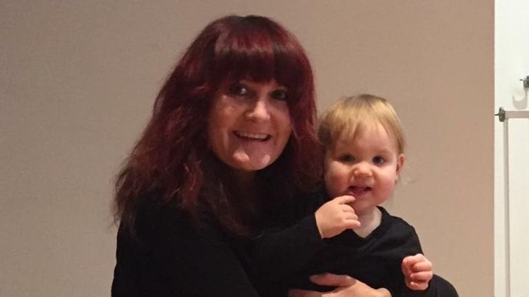 Mrs Strange with her granddaughter Celia.