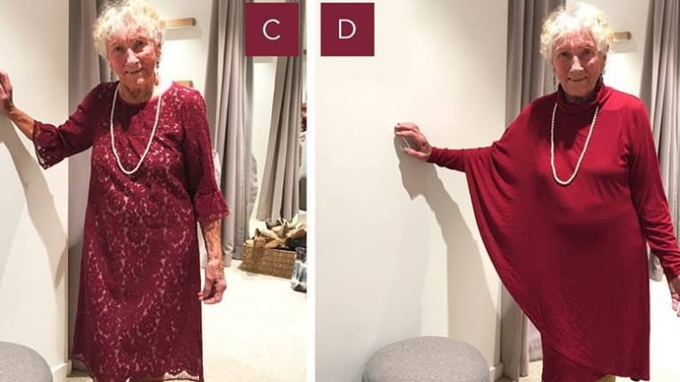 Canberra\'s 93-year-old bride Sylvia chooses dress for her big day