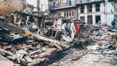 Thousands were buried under rubble when an earthquake struck Nepal in April.