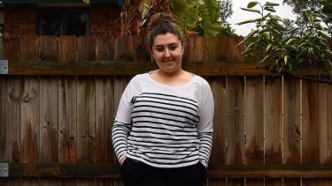 High-achiever Adriana Esho, who scored an ATAR of 98.6, at home in Bonnyrigg.