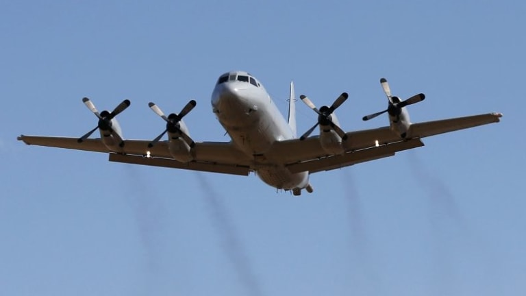 A Royal Australian Air Force P-3 Orion aircraft.