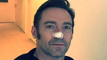 Hugh Jackman had his sixth skin cancer removed from his face.