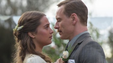 It has been reported that Michael Fassbender and Alicia Vikander's upcoming movie <i>The Light Between Oceans</i> is where their love ignited, but it's not a good idea to ask the actor about that.