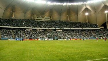 Few women: King Fahd Stadium in Riyadh where the match will be played.