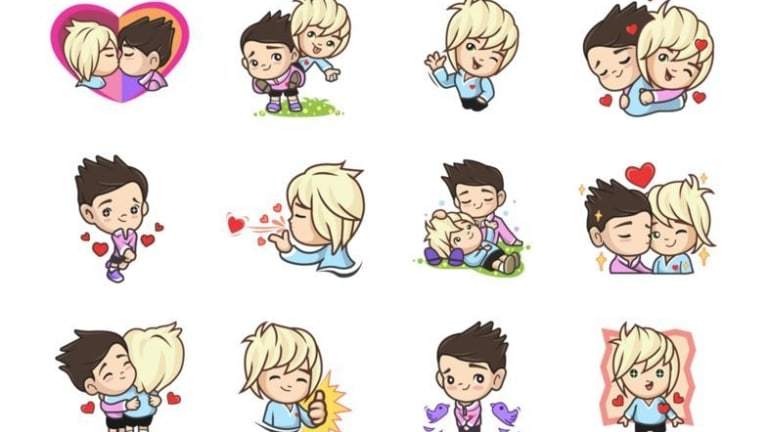 Gay sex emoji