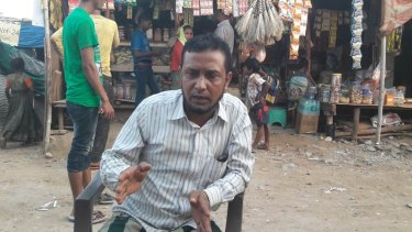 Rohingya Muslim refugee, Mohammed Harun.