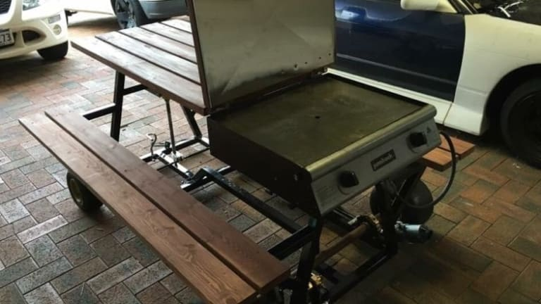 Perths Newest Motorised Picnic Table On Wheels Comes Complete With - Motorized picnic table for sale