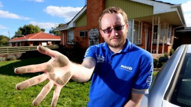 Nick Albon still cannot return to live in his home due to the soot.