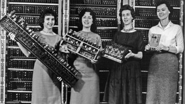 At the dawn of the computing revolution women, not men, dominated software programming.