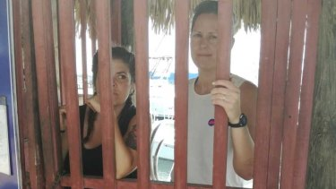 Detained: the ship's crew in Puerto San Jose, Guatemala.