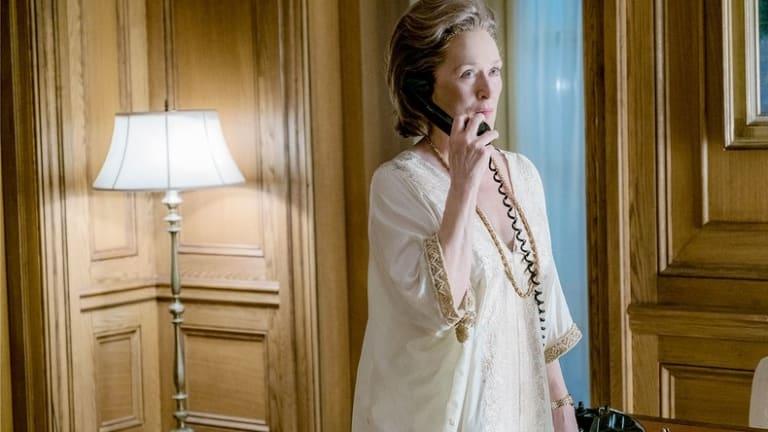 Meryl Streep as Washington Post publisher, Katherine Graham, in <i>The Post</i>.