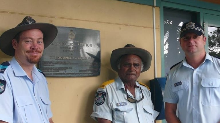 Coen police station's former Officer in Charge Sergeant Matt Moloney (L)