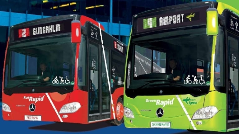 An image of the colour-coded buses proposed by the Liberals.