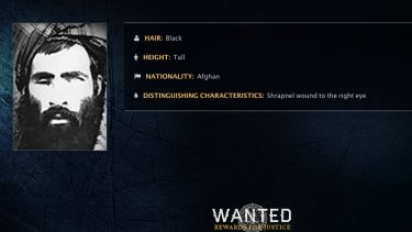 An FBI wanted poster for Taliban leader Mullah Mohammad Omar.