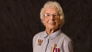 Pride: Nancy Crofts of the RAAF poses for her portrait.