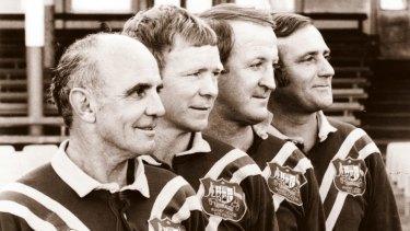 The original Immortals ... Clive Churchill, Bob Fulton, Johnny Raper and Reg Gasnier.
