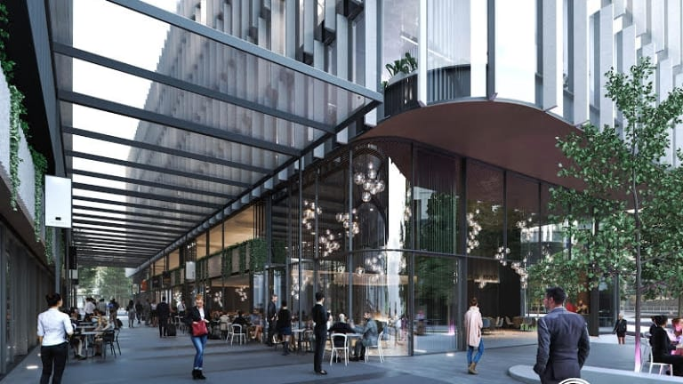 Retail space and restaurants will link Constitution Avenue to the Canberra Theatre Centre.