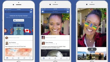 Facebook's new feature shows a camera feed when you open the app, just like Snapchat.
