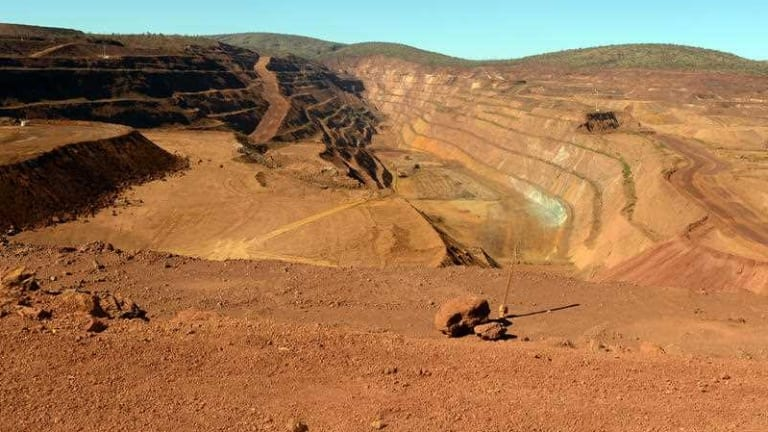 Rio Tinto's West Angelas mine: an example of mining impact on the landscape.