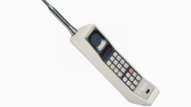 This brick-like Motorola DynaTAC, used by actor Michael Douglas in Wall Street, sells for almost $1500 online.