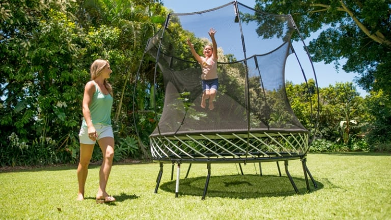 The Springfree trampoline took 15 years to develop.