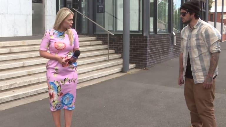 Nine News journalist Maggie Raworth was abused by a member of the public outside Ballarat Court.