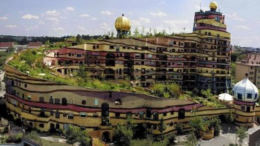 Free and anarchic...Hundertwasser's Waldspirale housing in Darmstadt, Germany