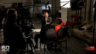 A still from Sunday's 60 Minutes interview with William Tyrrell's parents.