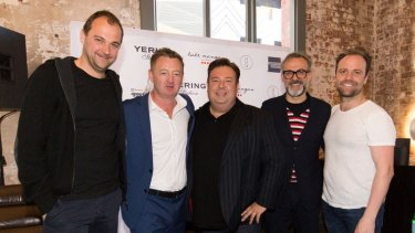 Chefs Daniel Humm, Luke Mangan, Peter Gilmore, Massimo Bottura and Brett Graham in Melbourne ahead of the World's 50 Best Restaurants.