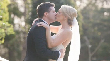 Chris and Jessica Galvin on their wedding day.