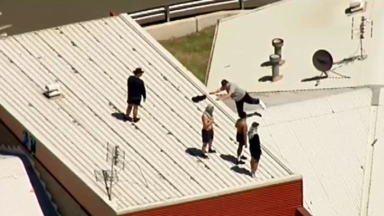 Inmates riot at Victoria's Malmsbury youth prison last month.