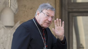 Cardinal George Pell at the Vatican in October 2014.
