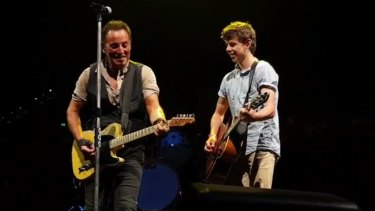 The Brisbane teen played alongside Bruce Springsteen on Thursday evening.