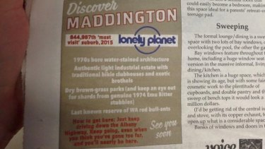 Perth Voice places a fake ad in its newspaper every week to keep readers on their toes.
