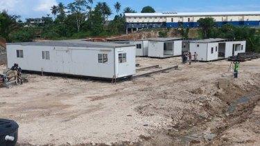 Housing for asylum seekers is still under construction.