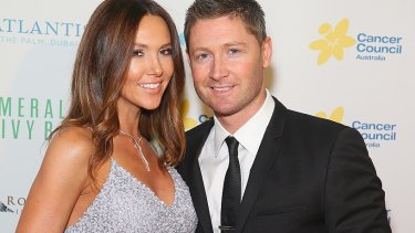 Kyly and Michael Clarke on October 9.