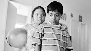 Luis and Angelique Oaxaca 2011 Luis and America at the Downs Syndrome School, Oaxaca, 2014 for 'The new storytellers: Morganna Magee' young documentary photographers series on Clique.