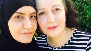 Ola with her mother, Salwa Haydar.