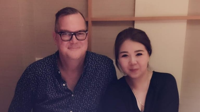 """Crown's Shanghai-based administration assistant Jiang """"Jenny"""" Ling and her husband, American expatriate Jeff Sikkema."""