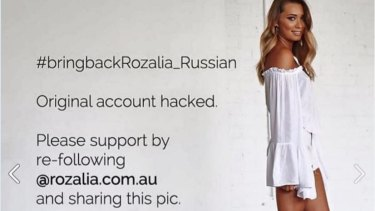 Rozalia Russian campaigned for the return of her hacked Instagram account.