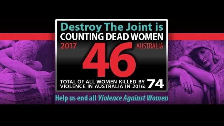 Advocacy group Destroy The Joint keeps a grim tally of violent female deaths through its online initiative, Counting Dead Women.
