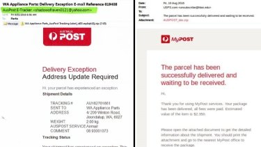 Real or fake? Email from Australia Post.