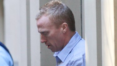 Jill Meagher's killer, Adrian Bayley, leaving court in 2013.