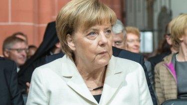 """We must take on more responsibility"": German Chancellor Angela Merkel."