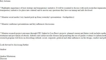 Screen grab of report by Andrea Mortensen for Coca-Cola.