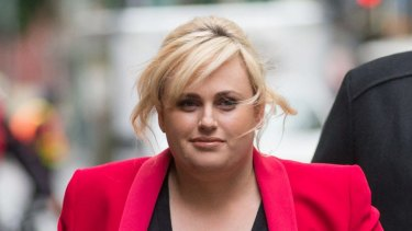 Rebel Wilson appears outside court on Tuesday
