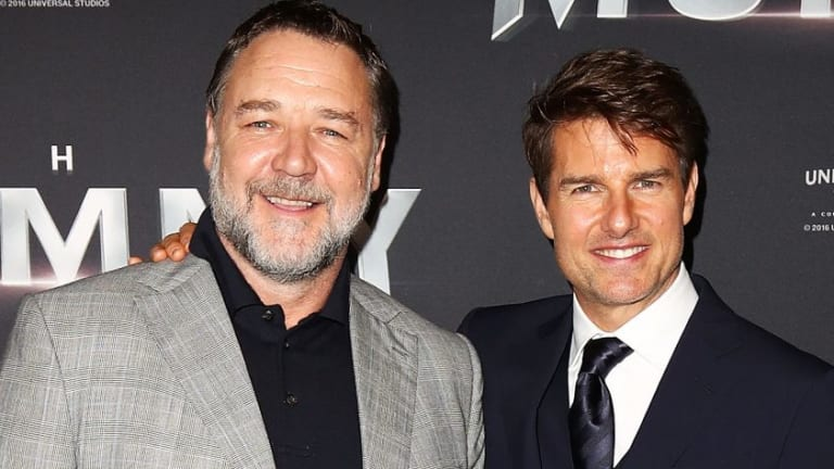 Russell Crowe and Tom Cruise arrive ahead of The Mummy Australian Premiere at State Theatre on.