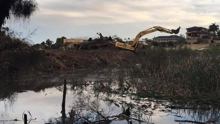 Clearing has begun on the site.